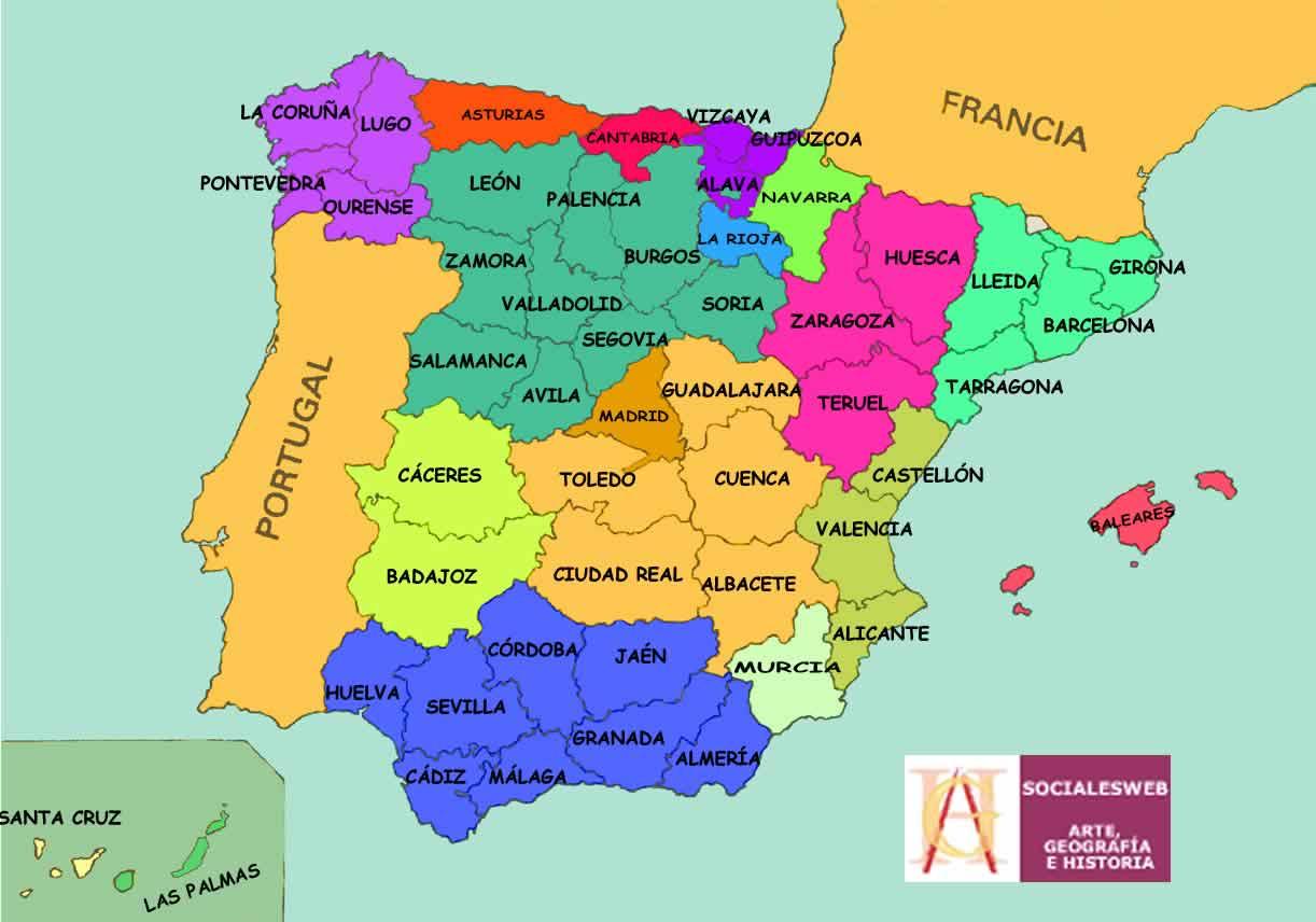 4 eso mapas provincias de espa a francisco sociales for Ministerio del interior ubicacion mapa